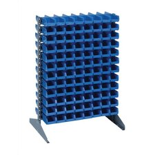 Double Sided Steel Rail Rack with Bins (Complete Package)