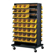 Double Sided Pick Rack Storage Systems with Bins and Optional Mobile Kit