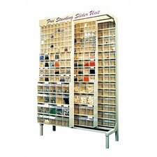 Free Standing Slider Storage System with Tip Out Bins