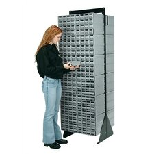"<strong>Quantum Storage</strong> 74"" Double Sided Interlocking Storage Cabinet Floor Stand"