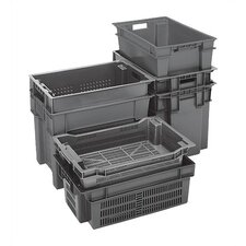 Ventilated Stack and Nest Storage Containers (Set of 6)