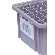 """Dividable Grid Storage Container Label Holder (5"""" L x 8"""" W) (Set of 6)"""