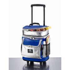 "38L Kühl-Trolley ""Be Cool"" in Silber / Blau"