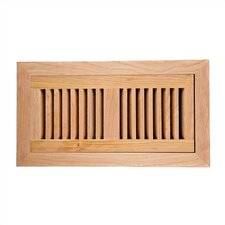 "4"" x 10"" American Cherry Flush Mount Vent Cover with Damper"
