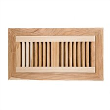 "4"" x 12"" Hickory Flush Mount Vent Cover with Damper"