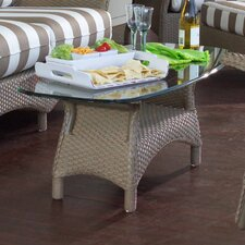 Mandalay Glass Top Coffee Table
