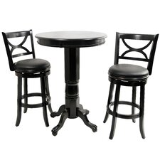Florence 3 Piece Pub Table Set