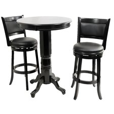 Augusta 3 Piece Pub Table Set