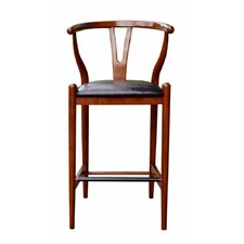 "Wishbone 29"" Bar Stool with Cushion"