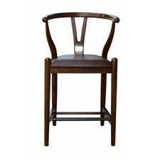 "Wishbone 24"" Bar Stool with Cushion"