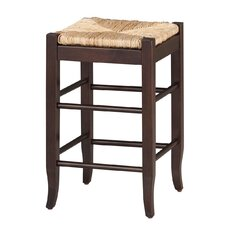 "24"" Rush Seat Counter Stool in Cappucino"