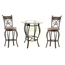<strong>Boraam Industries Inc</strong> 3 Piece Beau Pub Table Set