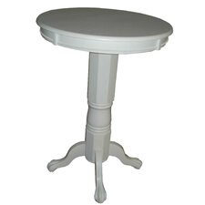 <strong>Boraam Industries Inc</strong> Florence Pedestal Pub Table in Solid White