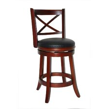 "Georgia 24"" Swivel Bar Stool with Cushion"