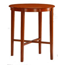 "42"" High Pub Table with Round Solid Top in Espresso Cherry"
