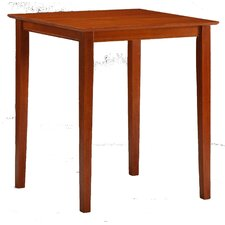 "42"" High Pub Table with Square Solid Top in Cherry"