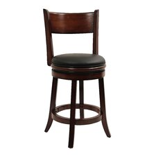 "Palmetto 24"" Swivel Bar Stool with Cushion"