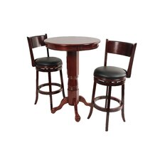 Florence 3 Piece Pub Table Set in English Tudor