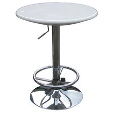 Luna Adjustable Pub Table in White