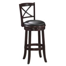 "Georgia 29"" Swivel Bar Stool with Cushion"