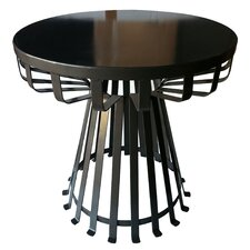 Metal Iron Base Flat Side Table