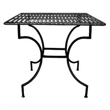 Easy to Assemble Iron Square Dining Table