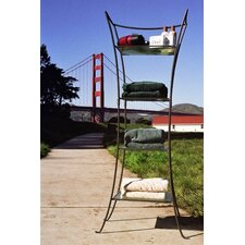<strong>Pangaea Home and Garden</strong> Tapered Four Layer Indoor/Outdoor Shelf Stand