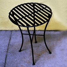 <strong>Pangaea Home and Garden</strong> Folding Iron Round Side Table