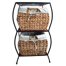 <strong>Pangaea Home and Garden</strong> Seagrass Rattan 2 Drawer Basket Storage Cabinet