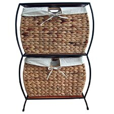 Seagrass Pangaea Rattan 2 Drawer Basket Storage File Cabinet