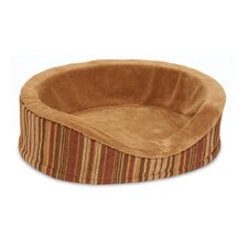 <strong>Petmate</strong> Antimicrobial Deluxe Oval Bolster Dog Bed