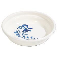 Designer Cat Elegant Bowl in White and Blue - 1.3 Cup