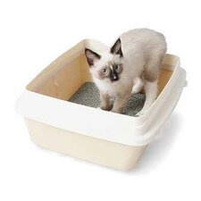 <strong>Petmate</strong> Large Cat Litter Pan with Rim