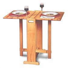 <strong>Catskill Craftsmen, Inc.</strong> Fold Away Prep Table with Butcher Block Top