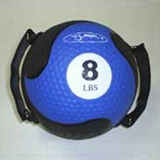 """Medballs With Straps 9"""" in Blue"""