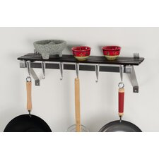<strong>Concept Housewares</strong> Wall Mount Pot Rack