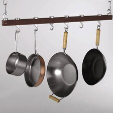 Hanging Wood Pot Rack