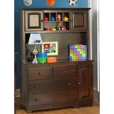 <strong>Atlantic Furniture</strong> Windsor 3 Drawer Changing Table with Hutch