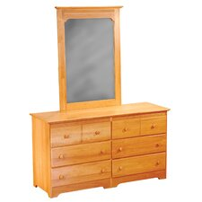 <strong>Atlantic Furniture</strong> Windsor 6 Drawer Dresser with Mirror