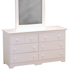 Windsor 6 Drawer Dresser with Mirror