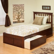 <strong>Atlantic Furniture</strong> Urban Lifestyle Mission Bed with 2 Bed Drawers Sets