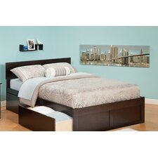 <strong>Atlantic Furniture</strong> Urban Lifestyle Orlando Bed with 2 Bed Drawer Sets