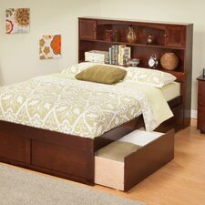 <strong>Atlantic Furniture</strong> Urban Lifestyle Newport Full Bookcase Bed with 2 Bed Drawer Sets