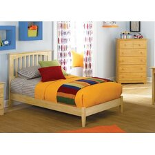 <strong>Atlantic Furniture</strong> Brooklyn Platform Bed with Open Footrail in Natural Maple