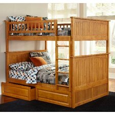 Bunk Bed with Raised Panel Drawers