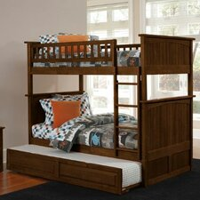 <strong>Atlantic Furniture</strong> Nantucket Bunk Bed with Trundle Bed