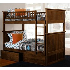 <strong>Atlantic Furniture</strong> Nantucket Bunk Bed with Flat Panel Drawers