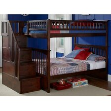 <strong>Atlantic Furniture</strong> Columbia Staircase Bunk Bed with Storage