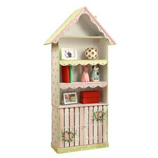 "Crackled Rose Room Girls 63.8"" Bookcase"