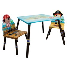 Fantasy Fields 3 Piece Kids Rectangle Table & Chair Set